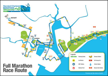standard chartered marathon singapore 2010 scms 42km race route map.PNG